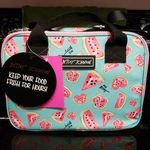Betsey Johnson Insulated lunch tote Watermelon